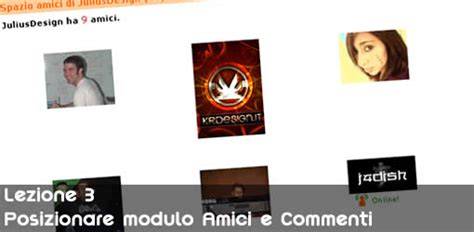 posizionare div myspace in flash posizionare i moduli friends e comments