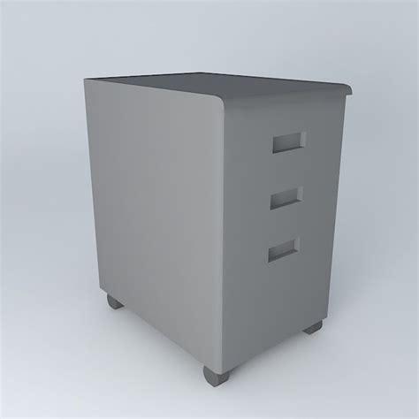 Desk With File Cabinet Desk File Cabinet 3d Model Max Obj 3ds Fbx Stl Dae Cgtrader