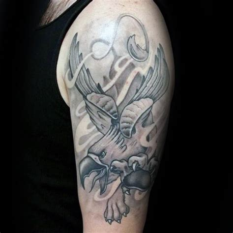 light grey tattoo 70 griffin designs for mythological creature