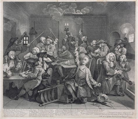 8 Paintings By Hogarth by William Hogarth Complete Set Of Eight Engravings Of The