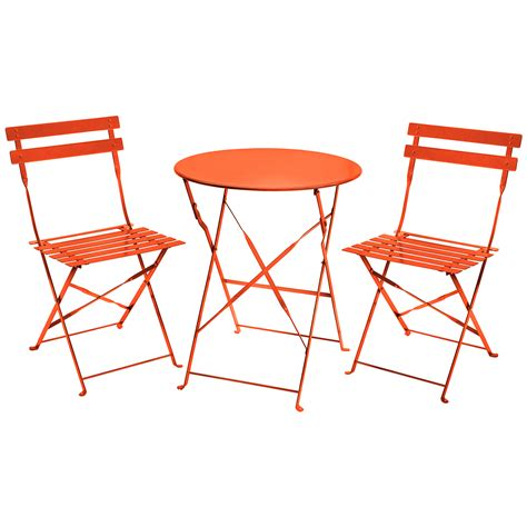 Charles Bentley 3 Piece Metal Bistro Set Garden Patio 2 Chairs And Table Patio Set