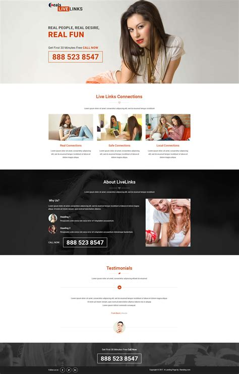 Best Ppc Dating Landing Page Design Template With Free Landing Page Builder Olanding Ppc Landing Page Templates