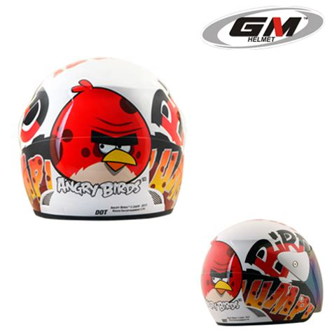 Helm Gm Evo News Black Murah helm gm evolution angry birds seri 4 pabrikhelm jual