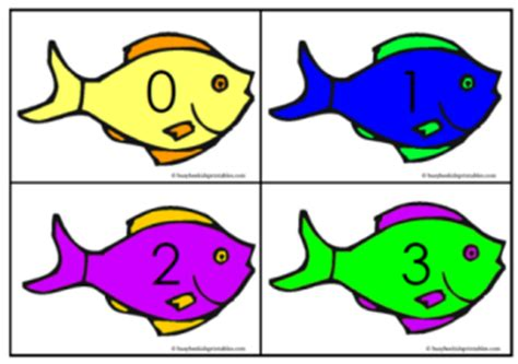 Used Gift Card Numbers - free for kids fish number sequencing cards