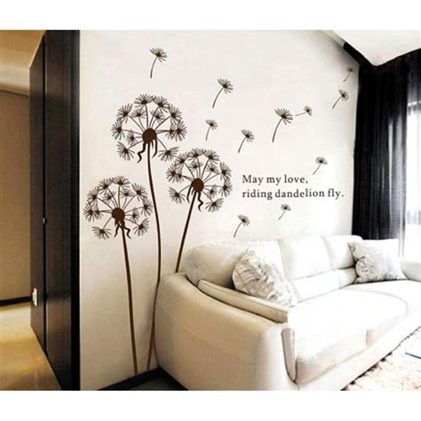 vinyl stickers for wall dandelion wall sticker dandelion wall decal