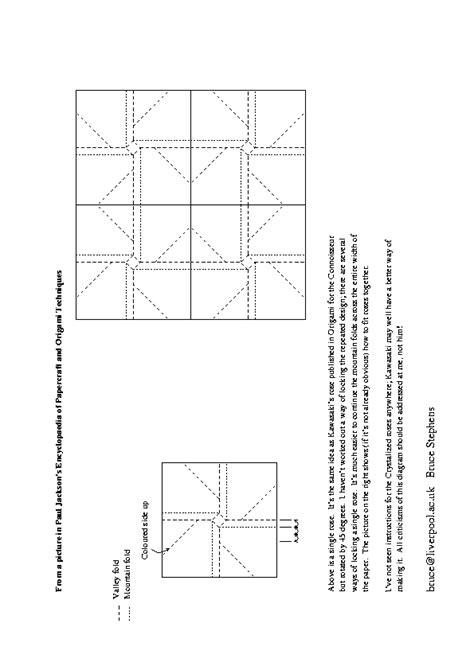 Origami Kawasaki Pdf - origami swami diagrams for origami roses