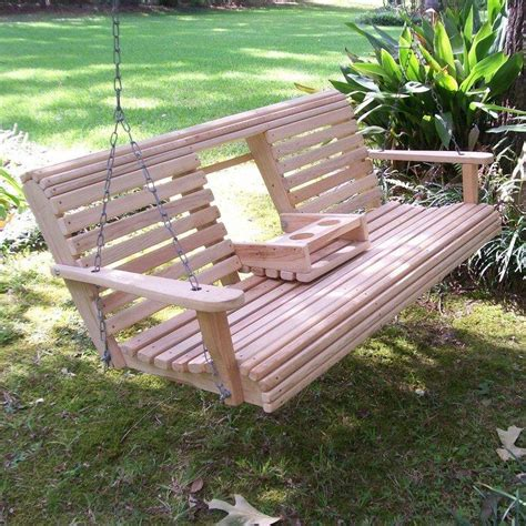 make a porch swing build a wood porch swing with cup holders diy porch