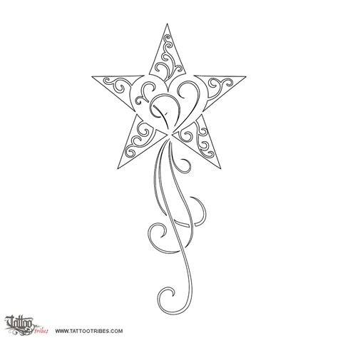 printable star tattoo designs stencil printable images gallery category page 26