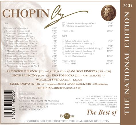 chopin the best chopin the best of the national edition bearton