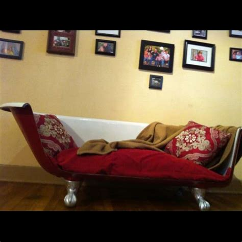 clawfoot tub sofa upcycled claw foot tub sofa