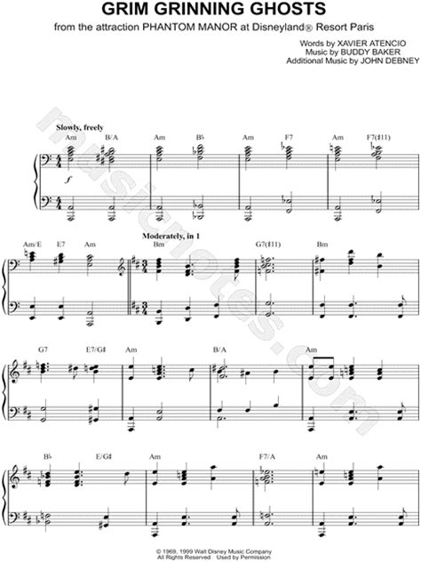 theme rec list quot grim grinning ghosts quot from disney theme park sheet