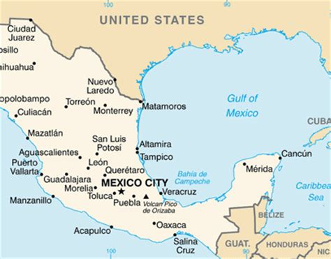 map of mexico and surrounding countries 6 5 magnitude earthquake strikes mexico no reports of