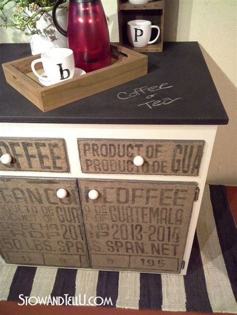 Diy Decoupage Furniture - diy decoupaged coffee sack furniture cabinet stow tellu