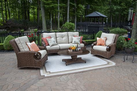 All Weather Wicker Patio Chairs The Aerin Collection 5 All Weather Wicker Patio Furniture Seating Set