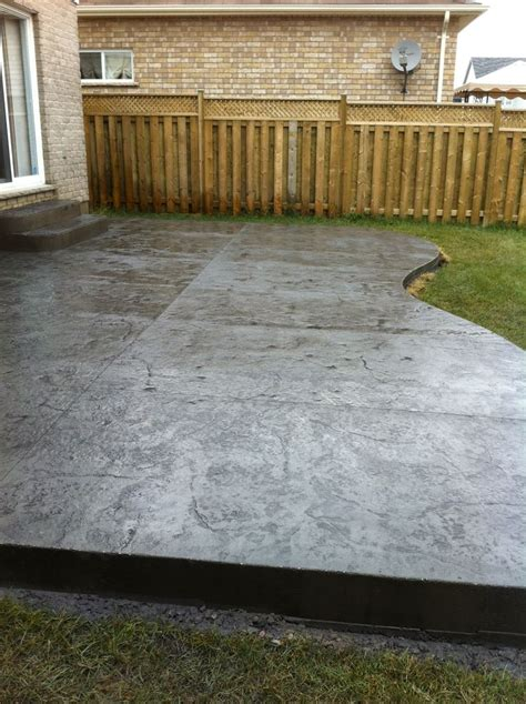 rough cut stone sted concrete patio in london ontario