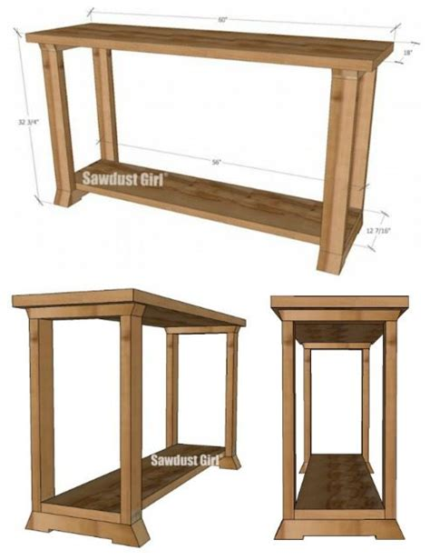 Console Table Woodworking Plans Sawdust Girl 174 Sofa Table Plans Free