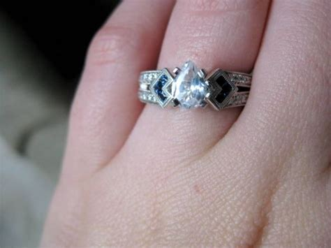 can i see your nondiamond engagement ring and any sapphire