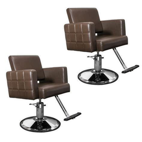 Salon Styling Chairs by Brown Quilted Hair Salon Styling Chair Ebay
