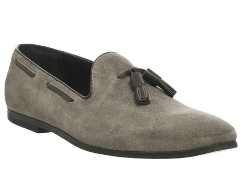 ask the missus loafers mens ask the missus faith loafers grey suede formal shoes