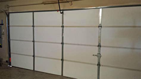 insulating garage door with foam panels intended for