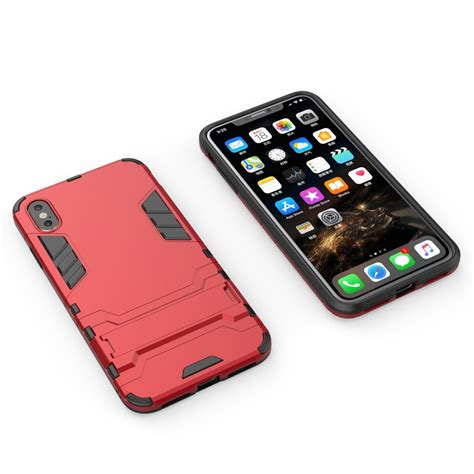 pc tpu shockproof protective with holder for iphone xs max alexnld