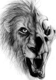 60 lion skull tattoo designs lioness and skull by paul jackson anatomy meets design