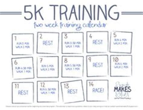 run double couch to 5k 2 week 5k training calendar free download