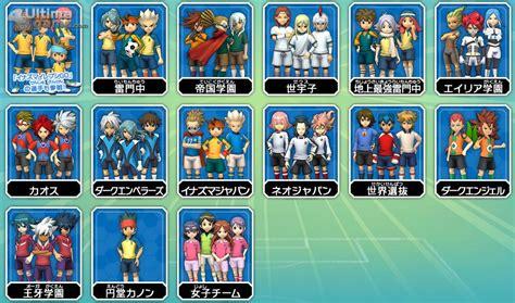 Kaos Inazura contra que equipos se pueden jugar 191 inazuma eleven strikers