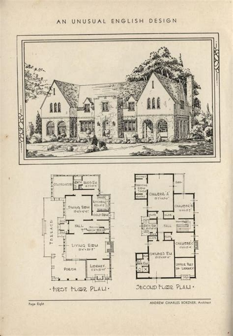 Historic Tudor House Plans | 266 best images about vintage home plans on pinterest