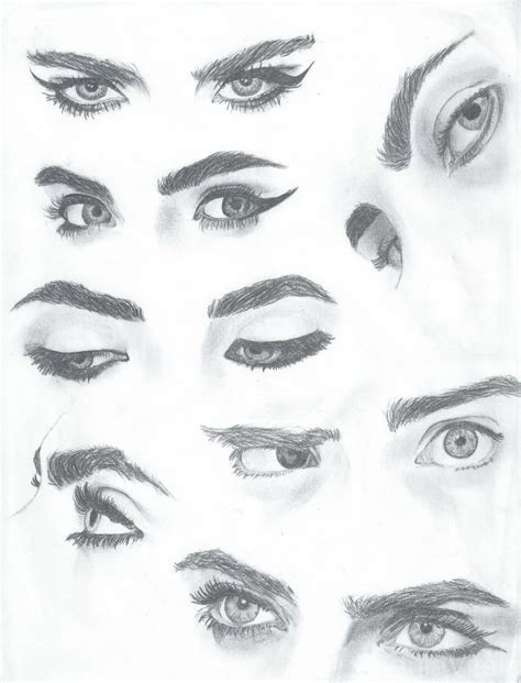 adding expression how to draw eyebrows step by step cara delevingne eye study pretty eyes pinterest