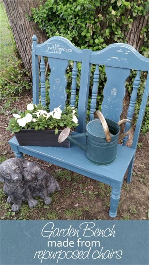bench made from 2 chairs 12 diy garden bench ideas free plans for outdoor benches