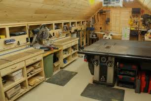 woodshop workshop 2nd floor of garage cabinet amp shelving garage workbench plans with wood