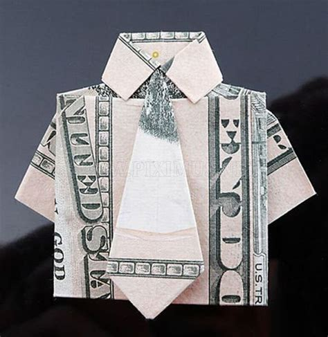 Dollar Bill Origami House - gorgeous dollar bill origami