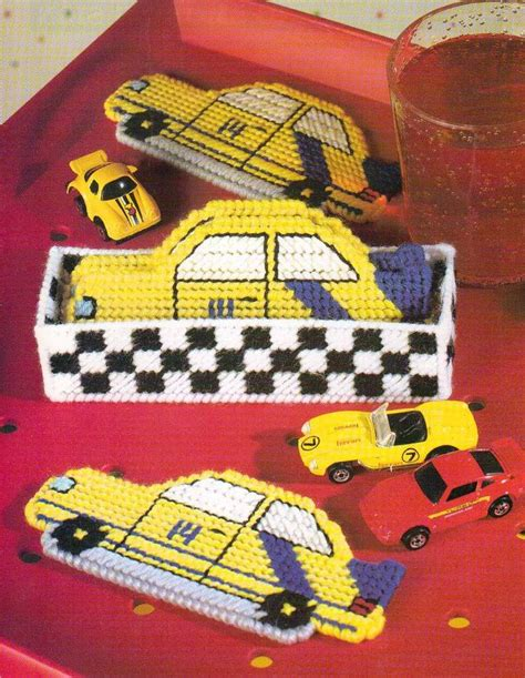 new plastic canvas free patterns race car coasters plastic canvas pattern instructions ebay