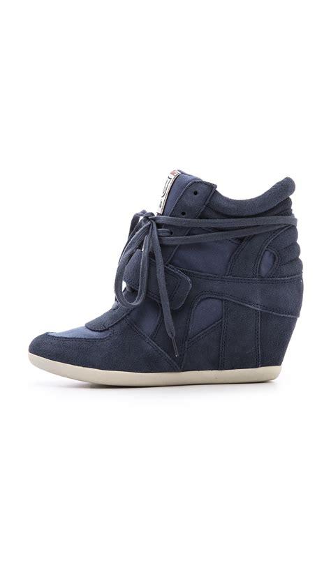 ash wedge sneaker ash bowie wedge sneakers in blue lyst