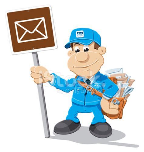 cartoon mailman letter sign isolated stock vector