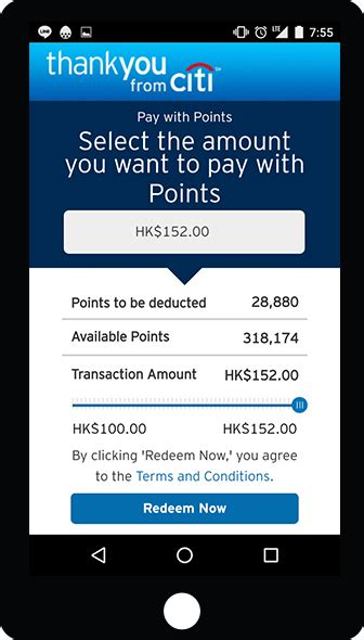 Gift Card Redemption Rate - pay with points citi thankyou rewards citi hong kong