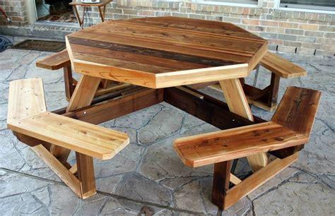 cedarcreekwoodshop western cedar octagon picnic table