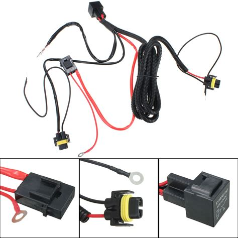 Fog Light Wiring Kit by H11 880 Relay Wiring Harness For Hid Conversion Kit Add On