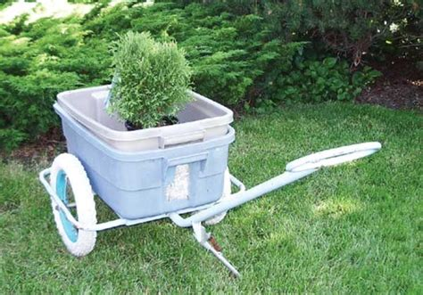 Diy Garden Cart recycled bicycle parts make handy carts diy