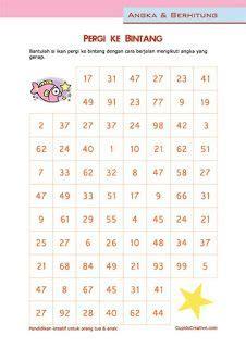 Maze Magnet Huruf Kecil belajar hitung angka 1 10 lembar latihan matematika untuk
