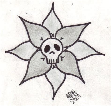simple skull tattoo designs for traditional outline simple