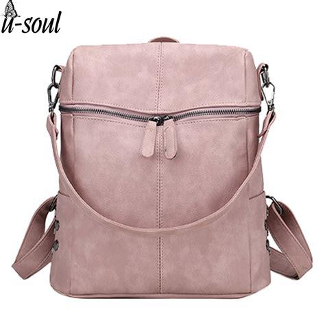 backpack pu leather shoulder bag backpacks
