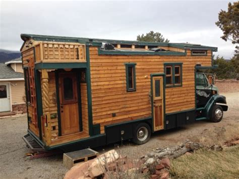 tiny house truck artist builds custom 99 sterling house truck now for sale