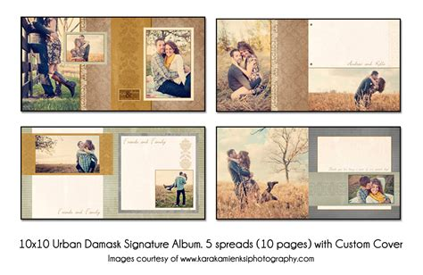 Photo Album Book Layout | psd wedding album template urban damask 12x12 guest