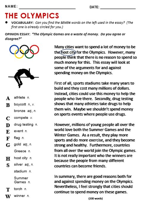 Olympic Essay by Olympics All Things Topics