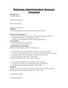 bachelors in business administration resume sales