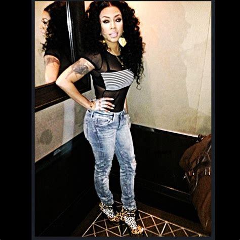 keysha cole in jeans keyshia cole instagram american apparel fiona bodysuit
