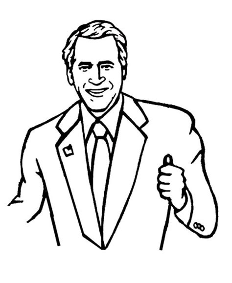 George W Bush Coloring Page by Business With George W Bush Coloring Pages Best Place To