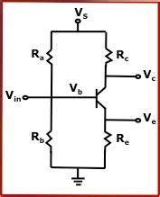 resistor in series with bjt bjt transistor bias voltage calculator calculates for series resistor and voltage divider